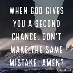 Second Chances!