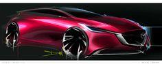 Mazda hatch quick sketch - Daniel Jimenez 2016