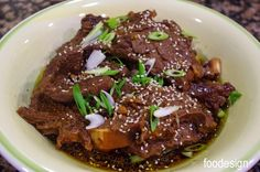 Korean braised short ribs Pressure Cooker or Instant Pot