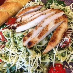 Pesto Pasta Salad with Grilled Chicken at the Magnolia Cafe & Bakery