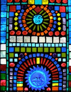 Detail from Stained Glass Mosaic made for my friends Mary and John Mosaic Glass, Stained Glass, My Friend, Friends, Glass Blocks, Mosaics, Mary, Detail, Moon