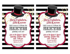 Abracadabra! Don't you wish these cute invitations would magically appear?