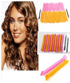 New 40pcs 50cm Hair Curlers Curl Formers Leverage Spiral Ringlets Rollers #clothing,#shoes,#jewelry,#women,#men,#hats,#watches,#belts,#fashion,#style