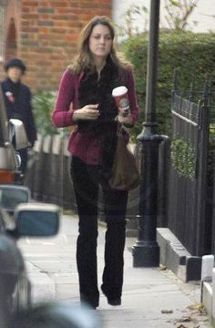 Duchess Catherine in cranberry sweater, black scarf, and black pants, November 2006