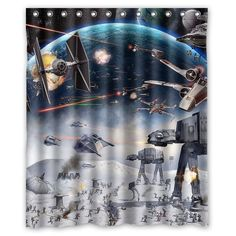 Amazon.com   Generic Star Wars Shower Curtain 60 Inch By 72 Inch