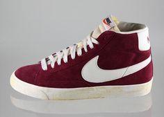 Nike Blazer En Daim Chaussures Bordeaux