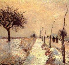 Camille PISSARRO - Route en Hiver a Eragny (1885)