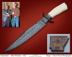 Best Fighter Award earned by Master Smith Mike Williams at the 2013 Arkansas Custom Knife Show. hforge@pine-net.com