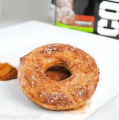 Cinnamon Sugar Protein Donuts (cinnamon protein powder, egg whites)