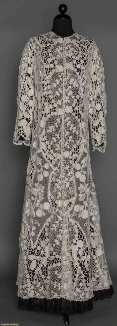 Irish Crochet Dress, C. 1910, Augusta Auctions, November 11, 2015 NYC