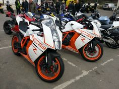 Couple of matching kTM RC8s