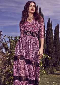 Irina Shayk Models Bohemian Glam Autumn Style for Bebe