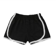 Soft Pom Pom Tassel Summer Shorts from kidspetite.com!  Adorable & affordable baby, toddler & kids clothing. Shop from one of the best providers of children apparel at Kids Petite. FREE Worldwide Shipping to over 230+ countries ✈️  www.kidspetite.com  #clothing #toddler #girl #shorts Kids Harem Pants, Girls Pants, Hot Dads, Toddler Girl Shorts, Summer Shorts, Short Girls, Hooded Jacket, Baby Kids, Kids Outfits