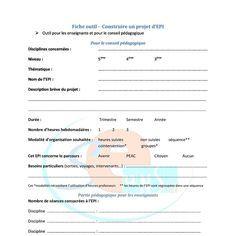 Fiche outil contruire EPI | Pearltrees
