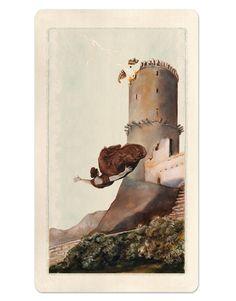 16 / The Tower / Pagan Otherworlds Tarot