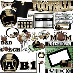 Football Black and Gold by JRettGraphics Football, football mom, football jersey, football dad, football coach, scoreboard, football balloons, football party, homecoming, football field, wordart, football helmet, varsity, jr varsity,