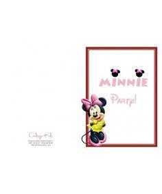 Invitatii petrecere copii adulti Minnie Mouse Minnie Mouse, Disney, Disney Art