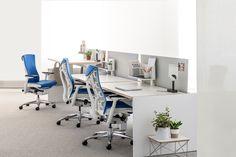 Renew Link & Embody Chair. Combinación que hará estar en la oficina trabajando todo un placer! #MoberIdeas