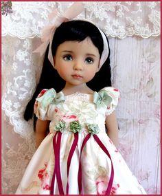 """Paris Flea Market "" OOAK Dress for EFFNER Little Darling 13"" Doll #DollClothingAccessories"