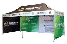 This massive 3x6m dual-branded marquee is a perfect example of space utility. Never a dull moment underneath the Harvest and Hallmax Australian Tyre Traders marquee by Star Outdoor. It's highly informative, very efficient and a great value for money. Get a custom-branded marquee for your event at www.staroutdoor.com.au