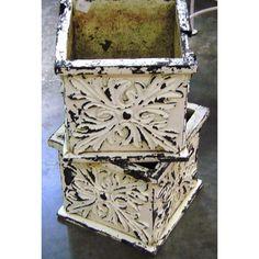 Shabby-Chic Tin Planters - $125.00
