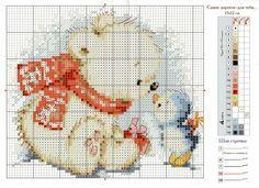 Cross-stitch Cute Baby Polar Bear & Blue Bird...   Gallery.ru / Фото #2 - 176 - gipcio