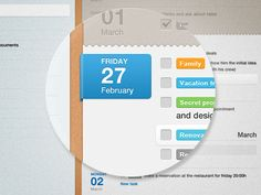 planner app by Damjan Stankovic #usability #user interface