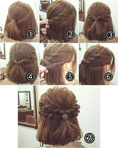 ヘアアレンジ Work Hairstyles, Easy Hairstyles For Long Hair, Bride Hairstyles, Medium Hair Styles, Natural Hair Styles, Short Hair Styles, Korean Short Hair, Girl Hair Dos, Cut Her Hair