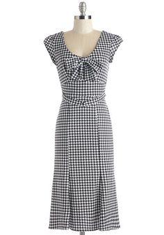 Classy 1940s style dress - Fashionably Tessellate Dress
