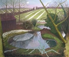 Fine Art Print of Winter Evening by John Northcote Nash Winter Landscape, Landscape Art, Landscape Paintings, Green Landscape, John Nash, Art Uk, Cool Landscapes, Your Paintings, Art Photography