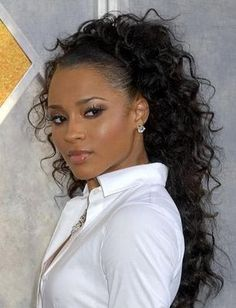 Curly Ponytails For Black Women | harris black curly hair styles for women in short black curly hair has ...