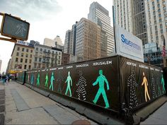 Walking Men: a Public Art Installation Featuring Pedestrian Traffic Icons from Around the World