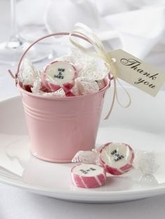 Pale Pink Tin Favour Pail