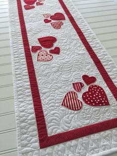 Valentine Quilted Table Runner With Appliqued By SewYouLikeIt