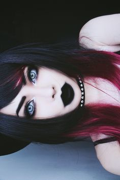 If I were like emo - Augen-Make-up - Hair Colors Emo Makeup, Gothic Makeup, Dark Makeup, Emo Scene Makeup, Crazy Makeup, Fantasy Makeup, Makeup Art, Goth Beauty, Dark Beauty
