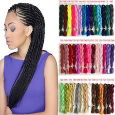 USPS Soft Kanekalon Jumbo Braiding Synthetic Hair Extension Crochet Twist Braids #Unbranded #BraidedHairband