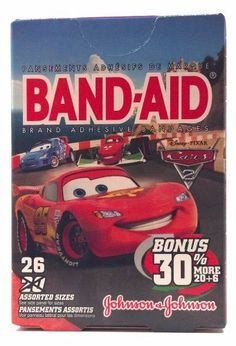 Band-aid Brand Adhesive Bandages with Disney Pixar Cars 2 Style 26 Assorted (1 Box) by Band-Aid. $4.99. 26 assorted sizes (1 box). disney pixar cars 2 designs. band-aid adhesive bandages