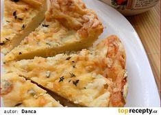 """Bramborový koláč z """"tatarkového"""" těsta recept - TopRecepty.cz Mashed Potatoes, Cheese, Ethnic Recipes, Food, Whipped Potatoes, Smash Potatoes, Essen, Meals, Yemek"""