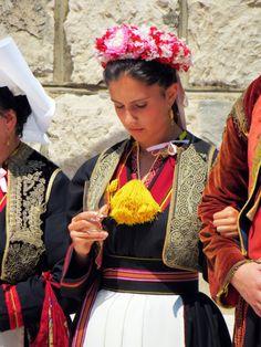 Folklore in Cilipi Dalmatia Croatia, Dubrovnik, Folklore, Sari, Shopping, Fashion, Saree, Moda, La Mode