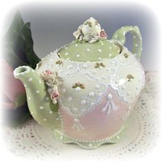Custom and One of a Kind Handmade Ceramic Teapots, Tea Cups and Serving Accessories