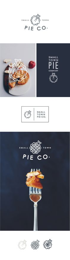 not crazy about the font, but the little logos are so cute and simple.