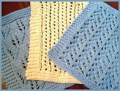 These lacy dishcloth knitting patterns are really pretty and fun to knit.  What a great way to start knitting lace on a small project like dishcloth.