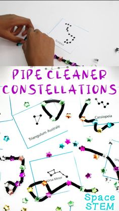 Space STEM Activities - Pipe Cleaner Constellations