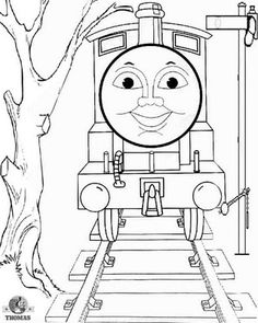 thomas printable color pages