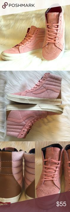 Vans Sk8-Hi Reissue Year of the Horse Blossom Pre-loved, No box, Men's high-cut shoes, with synthetic pony hair and suede panels, leather heel counter, with pink laces and extra rope-like laces, Waffle outsole, Cherry Blossom Pink Color. Please feel free to ask questions. No trades. Vans Shoes Sneakers