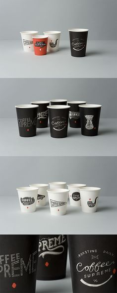 COFFEE SUPREME Take-out cups, HARDHAT Design