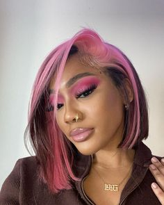 Hair Inspo, Hair Inspiration, Curly Hair Styles, Natural Hair Styles, Colored Hair Styles, Dyed Natural Hair, Hair Dye Colors, Dye My Hair, Dyed Hair Pink