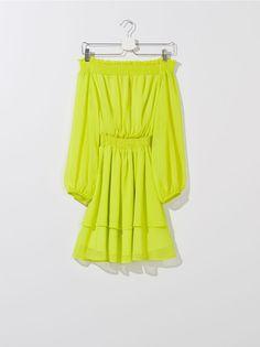 Rochie pentru femei, MOHITO, ZX397-11X Off Shoulder Blouse, Shoulder Dress, Yellow, Lady, Dresses, Women, Fashion, Vestidos, Moda