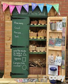 Outdoor eyfs literacy shed?