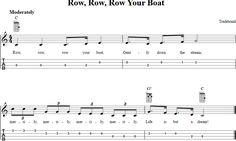 Free ukulele sheet music for Row, Row, Row Your Boat with chord diagrams, lyrics, and tablature. Ukulele Tabs Songs, Ukulele Fingerpicking Songs, Uke Tabs, Music Chords, Ukulele Chords, Guitar Songs, Piano Music, Sheet Music, Guitar Tabs Acoustic